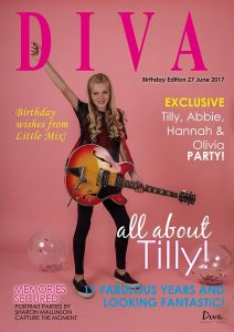 Diva Portrait Parties for girls in Lincolnshire